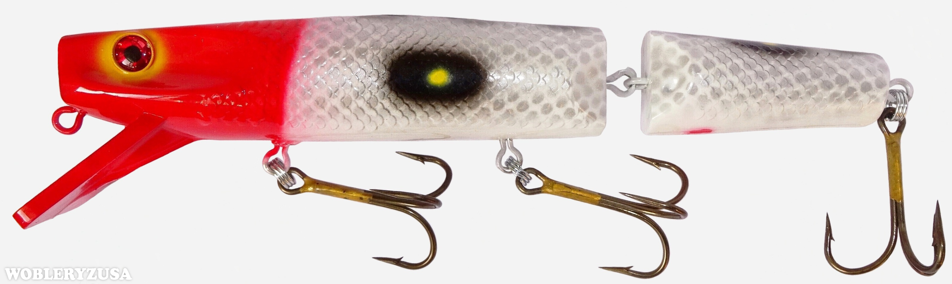 Wobler Muskie STALKER 25 cm - Red & White Scale