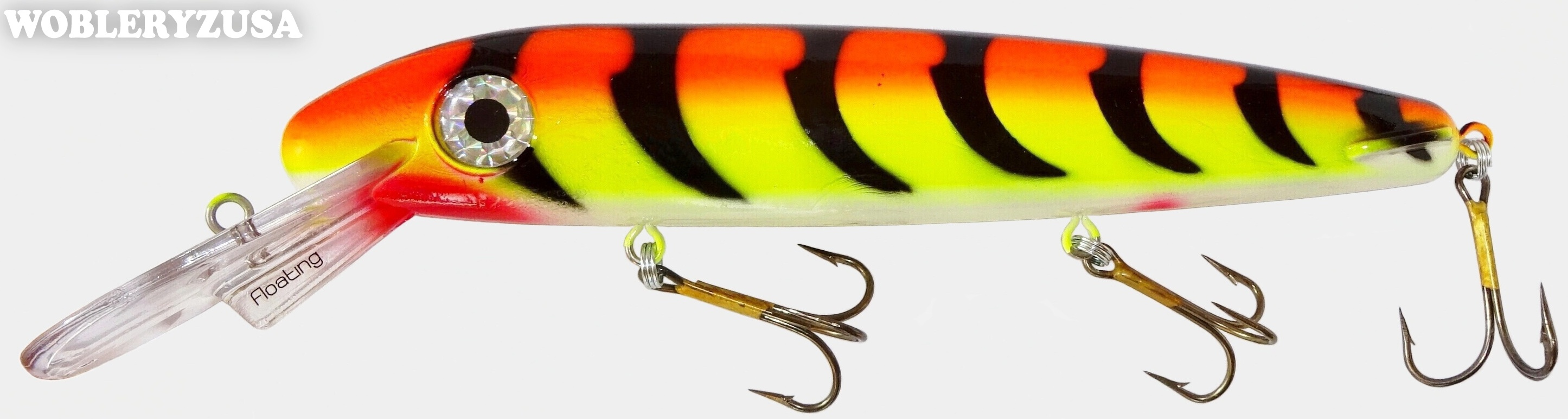 Wobler ERC TripleD 30,5 cm - Orange Tiger